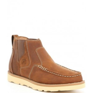 Twisted X Men Men's Pull-On Moc Toe Leather Boots MZBHUBR