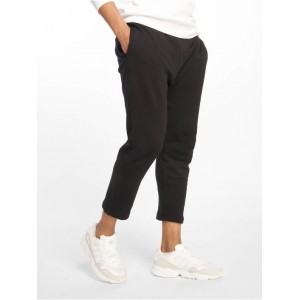 Urban Classics Men Sweat Pant Cropped Terry in black cotton 16% polyester 2021 New VRHZA949