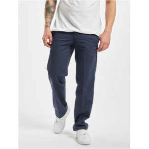 Dickies Men Chino Vancleve Work Pant Navy Blue in blue polyester 35% cotton Hot Sale AUPPW991