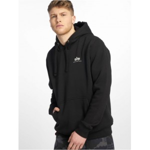 Alpha Industries Men Hoodie Basic Small Logo in black cotton 20% polyester New CGOUL194
