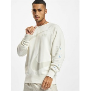 Nike Men Pullover Swoosh Crew in white cotton 20% polyester Cheap VFZUP386