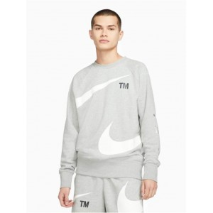 Nike Men Pullover Swoosh Sbb Crew in grey cotton 20% polyester Cheap SRGJW610