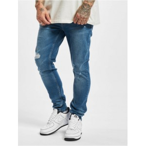 Only & Sons Men Skinny Jeans Onswarp Life Damage PK 9625 in blue cotton 1% elastane Cut Off QUVCB703