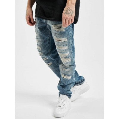 Cipo & Baxx Men Straight Fit Jeans Destroyed in blue Selling Well ZFVMG160