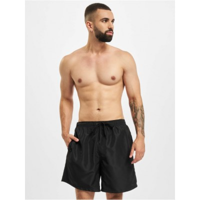 Build Your Brand Men Swim shorts Recycled in black polyester Cheap ZGAAC698