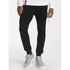 Alpha Industries Men Sweat Pant X-Fit in black cotton 20% polyester Top Sale OXAPU565