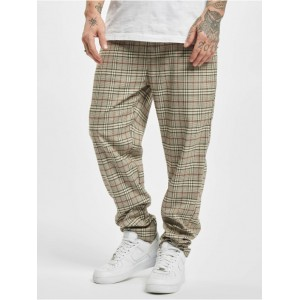 Urban Classics Men Sweat Pant Tapered Check in beige polyester 32% viscose 2% elastane On Line BXDZO820