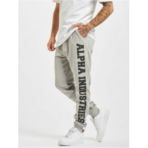 Alpha Industries Men Sweat Pant Big Letters in grey cotton 20% polyester Fashion OXRRX832