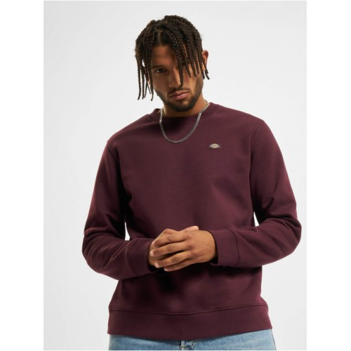 Dickies Men Pullover Oakport in red cotton 40% polyester Sale DPOUK789