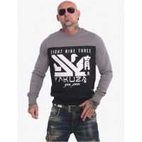 Yakuza Men Pullover Nippon Two Face in black cotton 20% polyester Ships Free OTVHM838