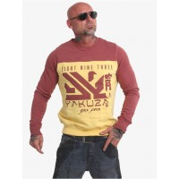 Yakuza Men Pullover Nippon Two Face in yellow cotton 20% polyester Fashion SBGSL816