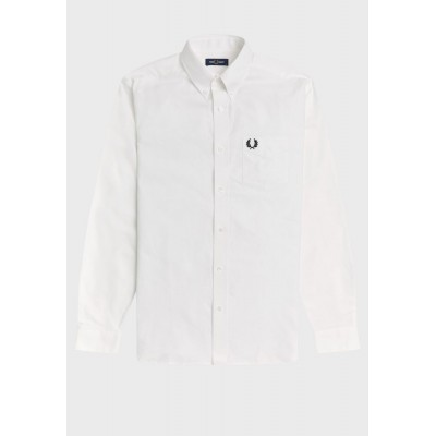 Fred Perry Men white Essential Regular Fit Shirt 8X3LM3868