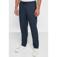 Muji Men navy Essential Relaxed Fit Trousers 7GOPO7182