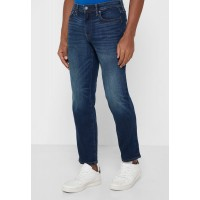 American Eagle Men blue Mid Wash Straight Jeans WD5ZP8430
